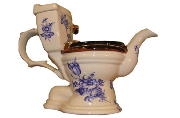 taza de té con forma de Water