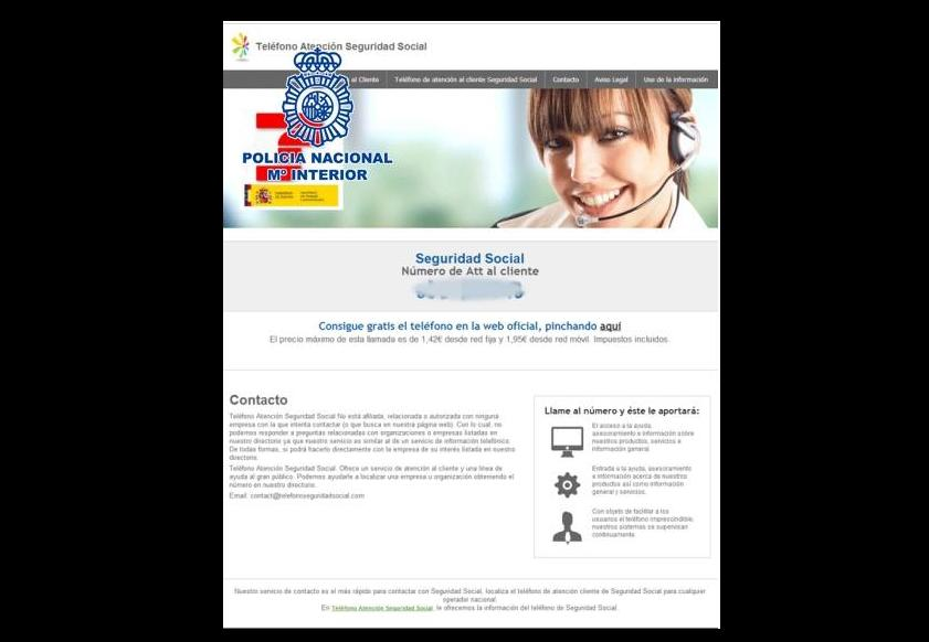 El fraude del falso Servicio Técnico, o Atención al Cliente. Apunta a un número de tarifación especial.