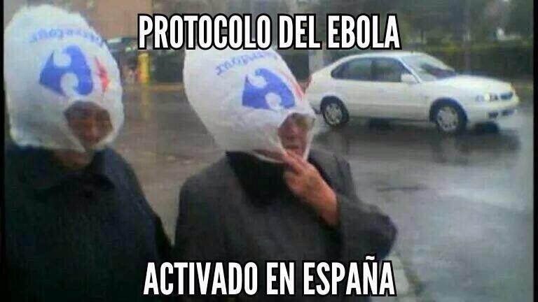 meme sobre protocolo de protección del ébola en España 2014