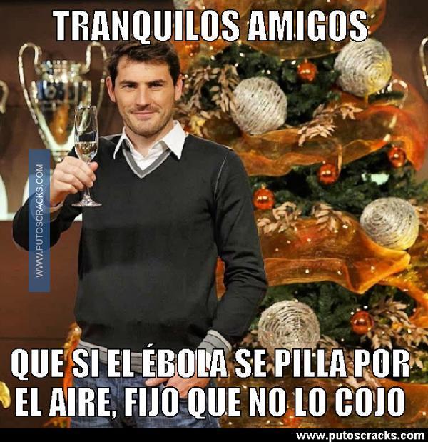 Meme de Iker Casillas y el ébola 2014