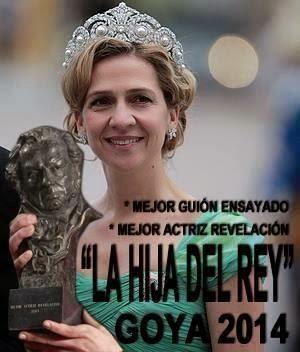 Meme infanta Cristina ganadora del Goya 2014