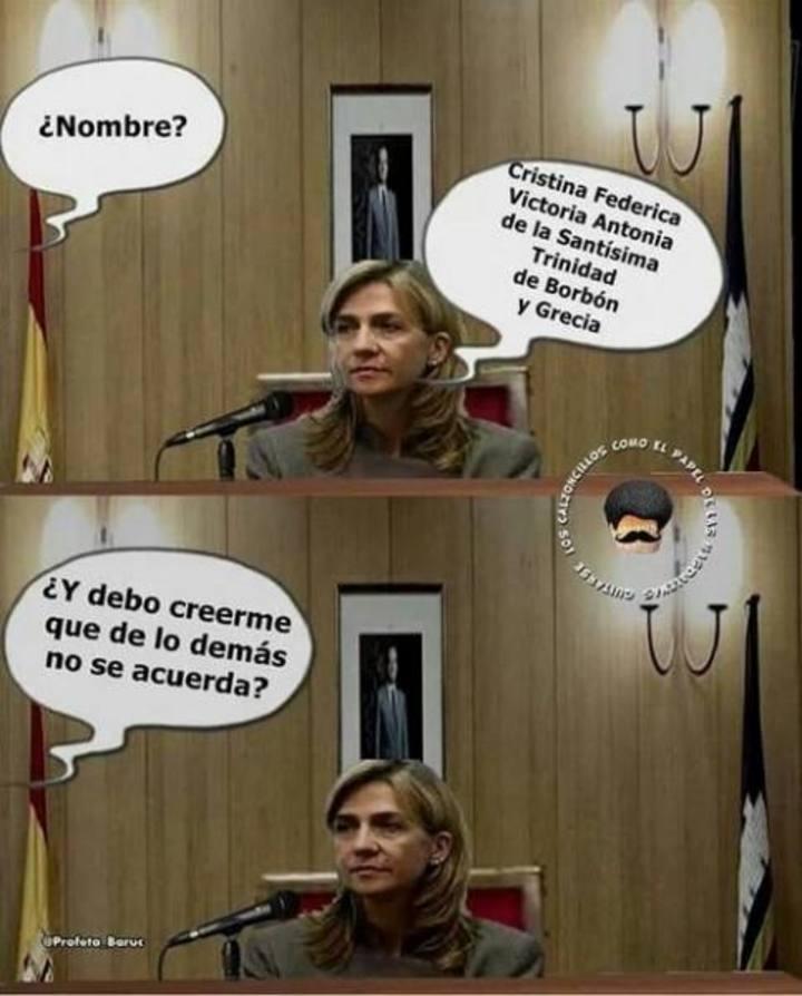 meme corrupción, Infanta Cristina declarando judgados plaza castilla 2014