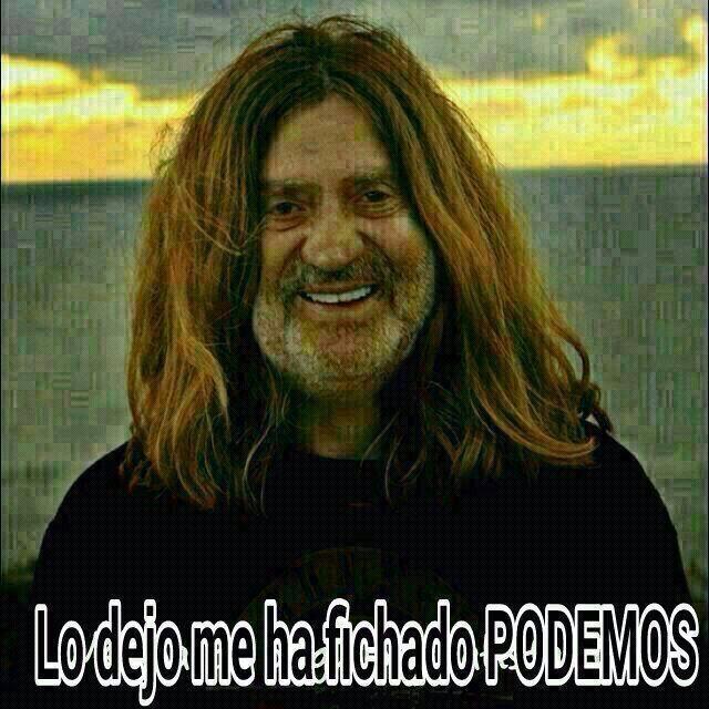 meme abdicación del Rey y Podemos en 2014