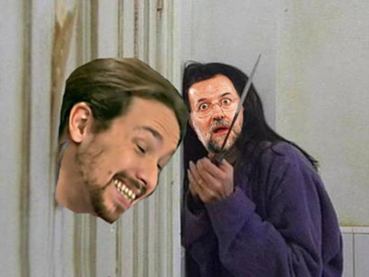 meme Pablo Iglesias y Mariano Rajoy