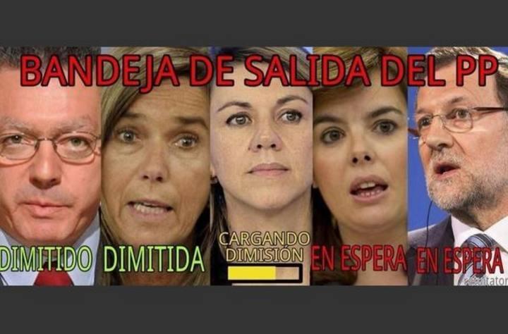 Meme dimisión de cargos del PP en 2014