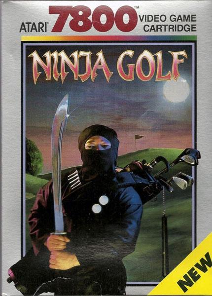 Ninja Golf, Atari 7800, una de las peores carátulas