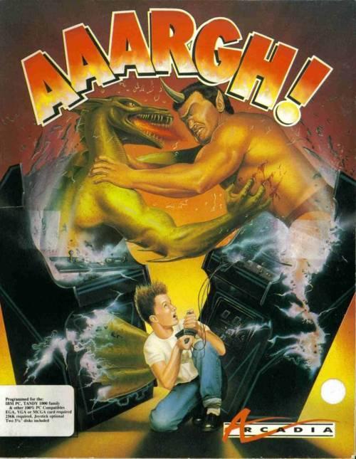 AAARGH!.  Spectrum, Amstrad. C64, Amiga. Peor carátula