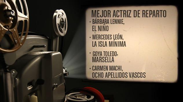 Nominados a los premios Goya 2015: Mejor actriz de reparto