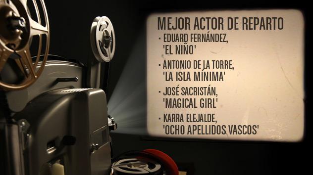 Nominados a los premios Goya 2015: Mejor actor de Reparto