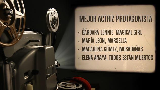 Nominados a los premios Goya 2015: Mejor actriz protagonista