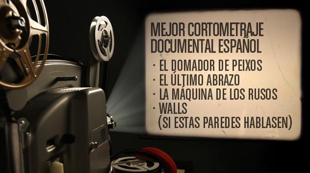 Nominados a los premios Goya 2015: Cortometraje documental español