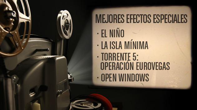 Nominados a los premios Goya 2015: Mejores efectos especiales