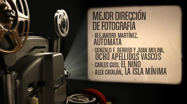 Nominados a los premios Goya 2015: Mejor dirección de fotografía