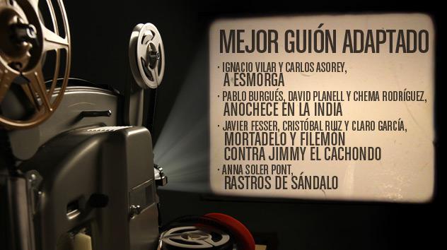 Nominados a los premios Goya 2015: Mejor Guión adaptado