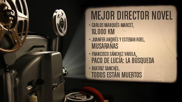 Nominados a los premios Goya 2015: Mejor director Nóvel