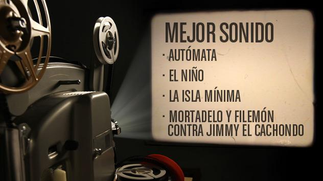 Nominados a los premios Goya 2015: Mejor sonido