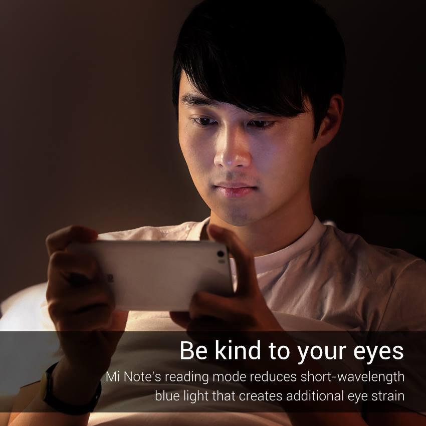Xiaomi Mi Note dispone de un modo de lectura que reduce la fatiga visual