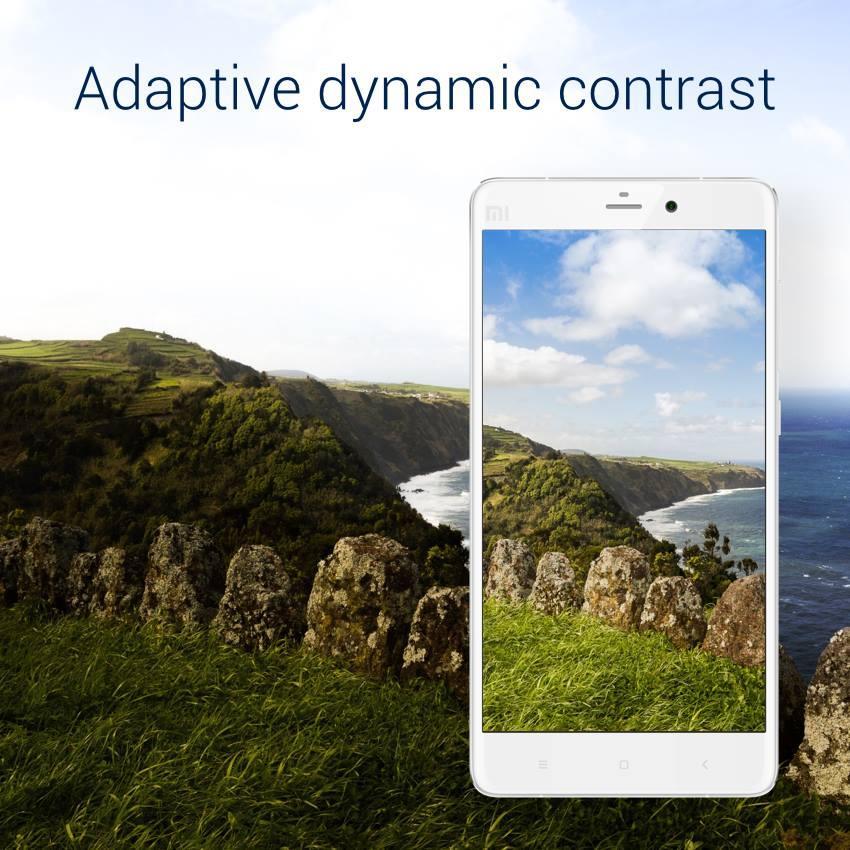 Sistema de mejora dinámica del contraste de pantalla en el Xiaomi Mi Note