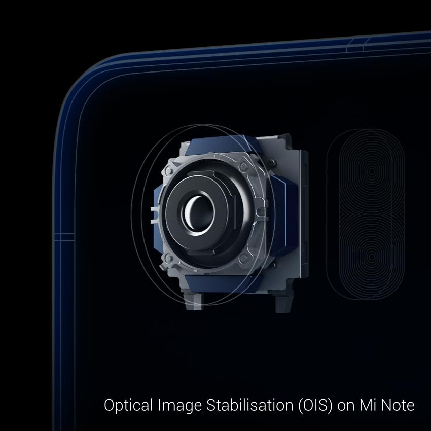 El sensor de cámara del Xiaomi Mi Note está fabricado por Sony, cuenta con 6 elementos y estabilizador de imagen óptico.