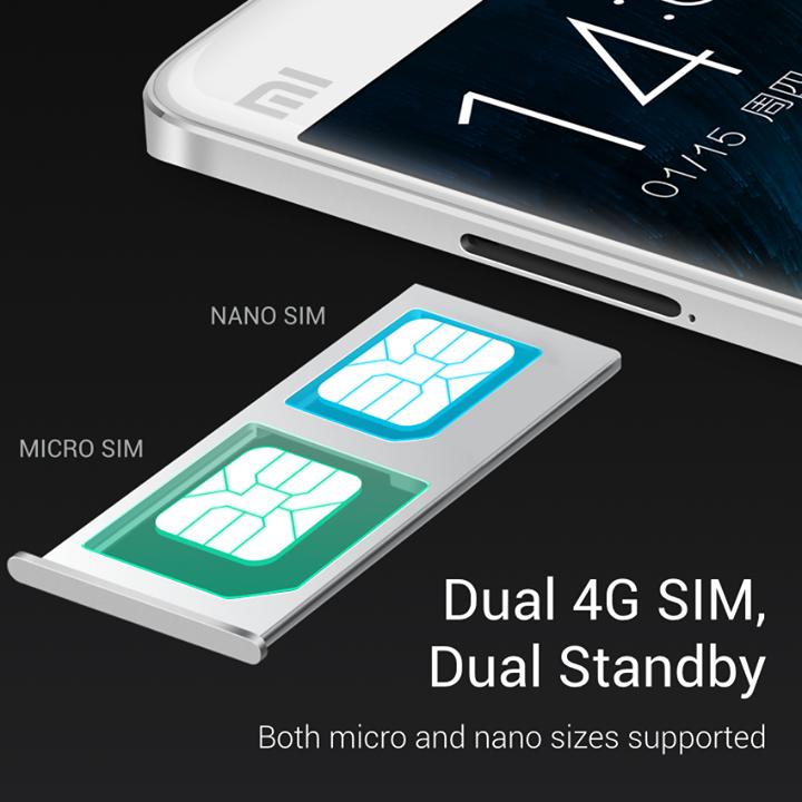 Xiaomi Mi Note es Dual SIM y soporta tarjetas Nano SIM y Micro SIM