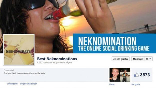 NekNomination consiste en instar a tus amigos a beber, por ejemplo, una cerveza en pocos segundos. Pero, por supuesto, hay que grabarlo y subirlo a las redes sociales para que cuente como válido. NekNomination fue un reto viralizado en Facebook que acabó siendo trending topic en Twitter en enero de 2014.