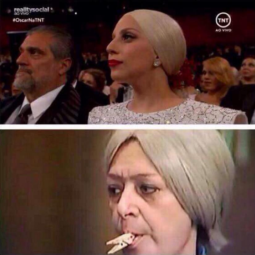 Lady Gaga meme Oscar 2015