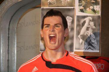 Iker Casillas en el Museo de Cera de Madrid