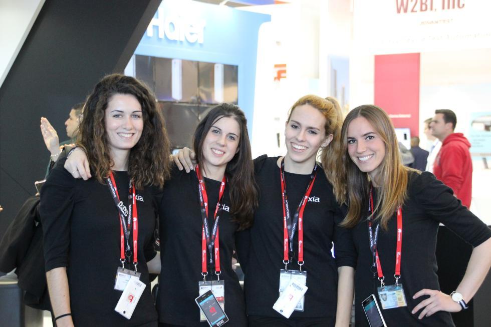 Azafatas en el Mobile World Congress