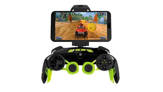 Resulta muy cómodo para jugar en tu smartphone, gracias a su soporte integrado y ajustable.
