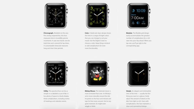 Esferas del apple Watch