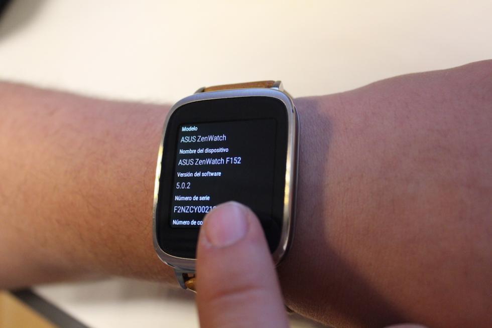 Asus ZenWatch especificaciones