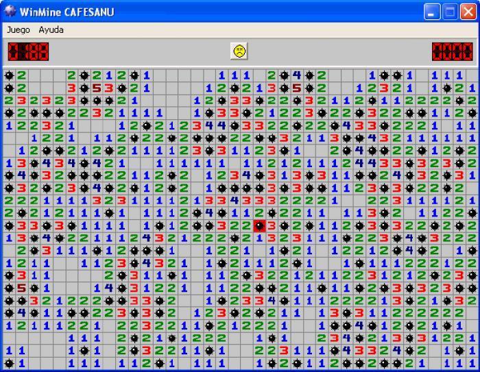 Buscaminas es otro de los juegos preinstalados tradicionalmente en Windows