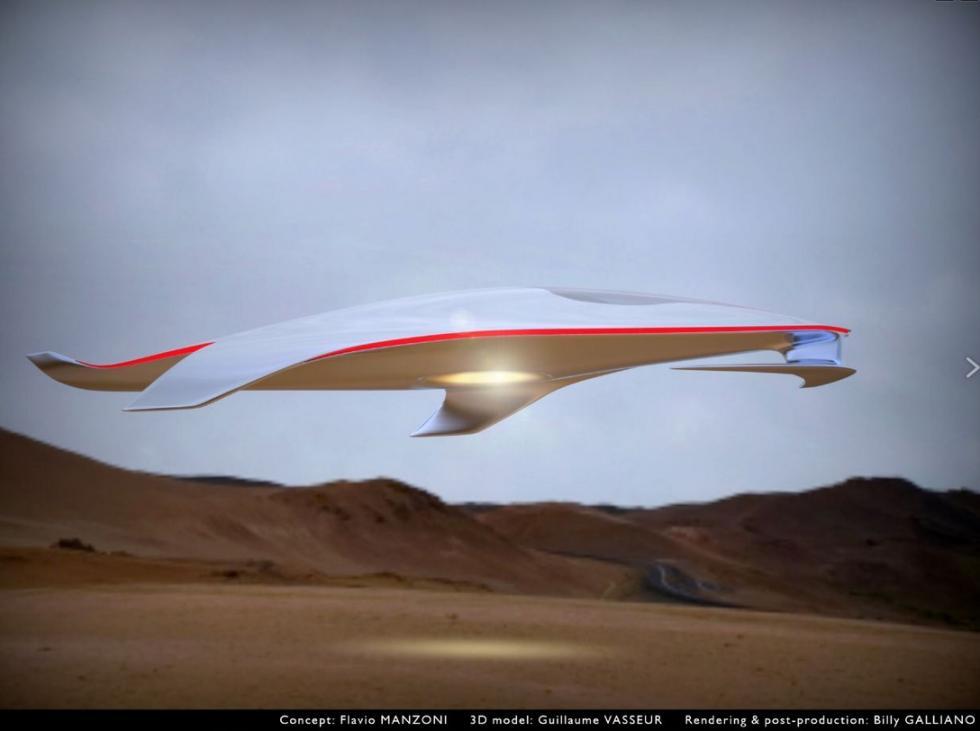 La nave espacial de Ferrari, by Flavio Manzoni