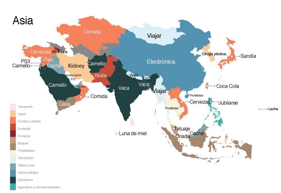 palabras más buscadas en Google Asia
