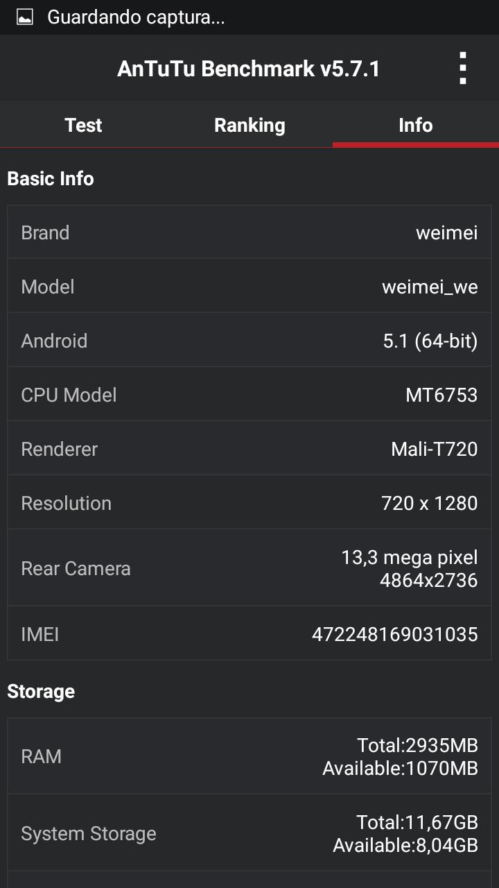 AnTuTu Benchmark 5.7.1