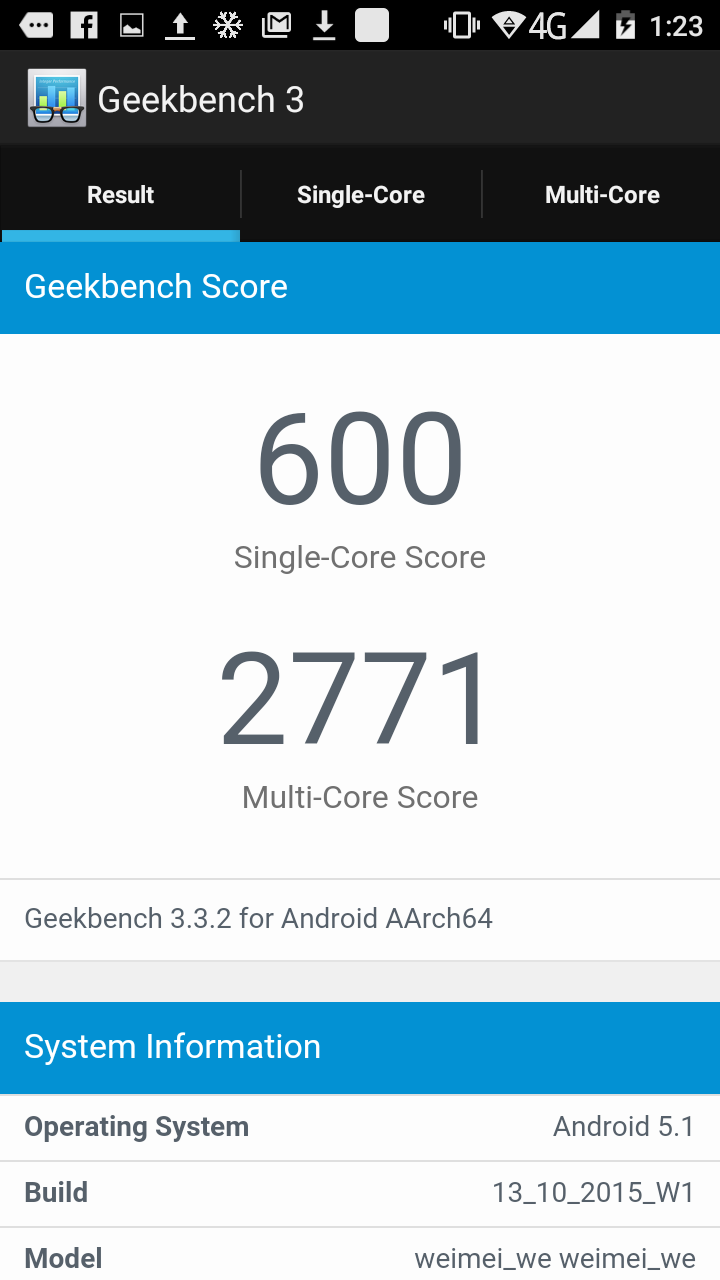 Geekbench 3 - Weimei We