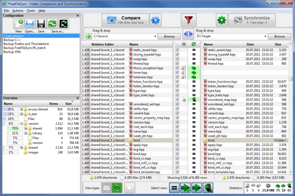 Mejores herramientas Windows: FreeFileSync