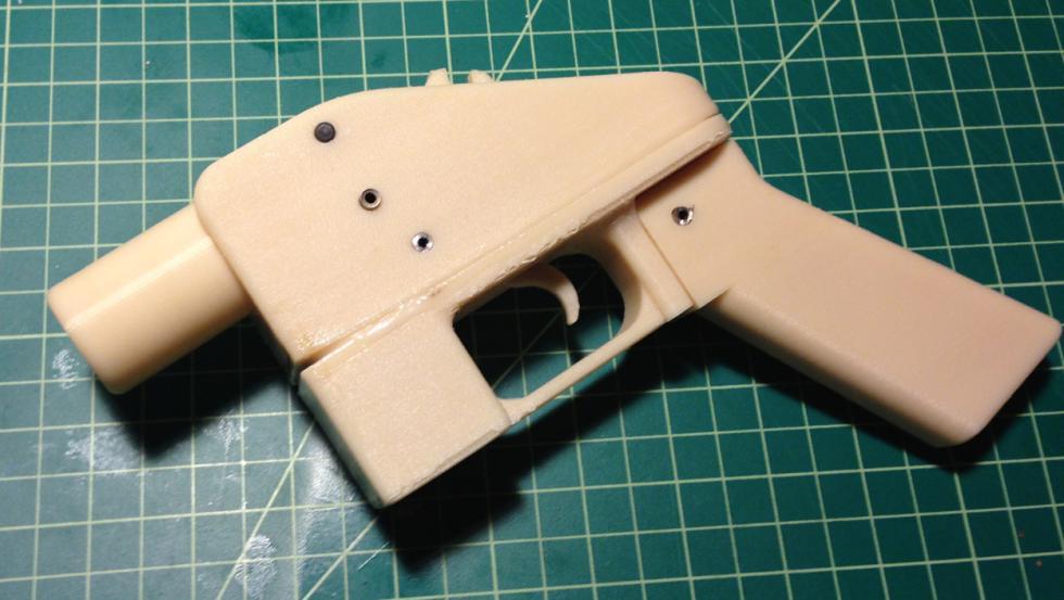 La pistola para imprimir en 3D que se puede descargar gratis por Internet.