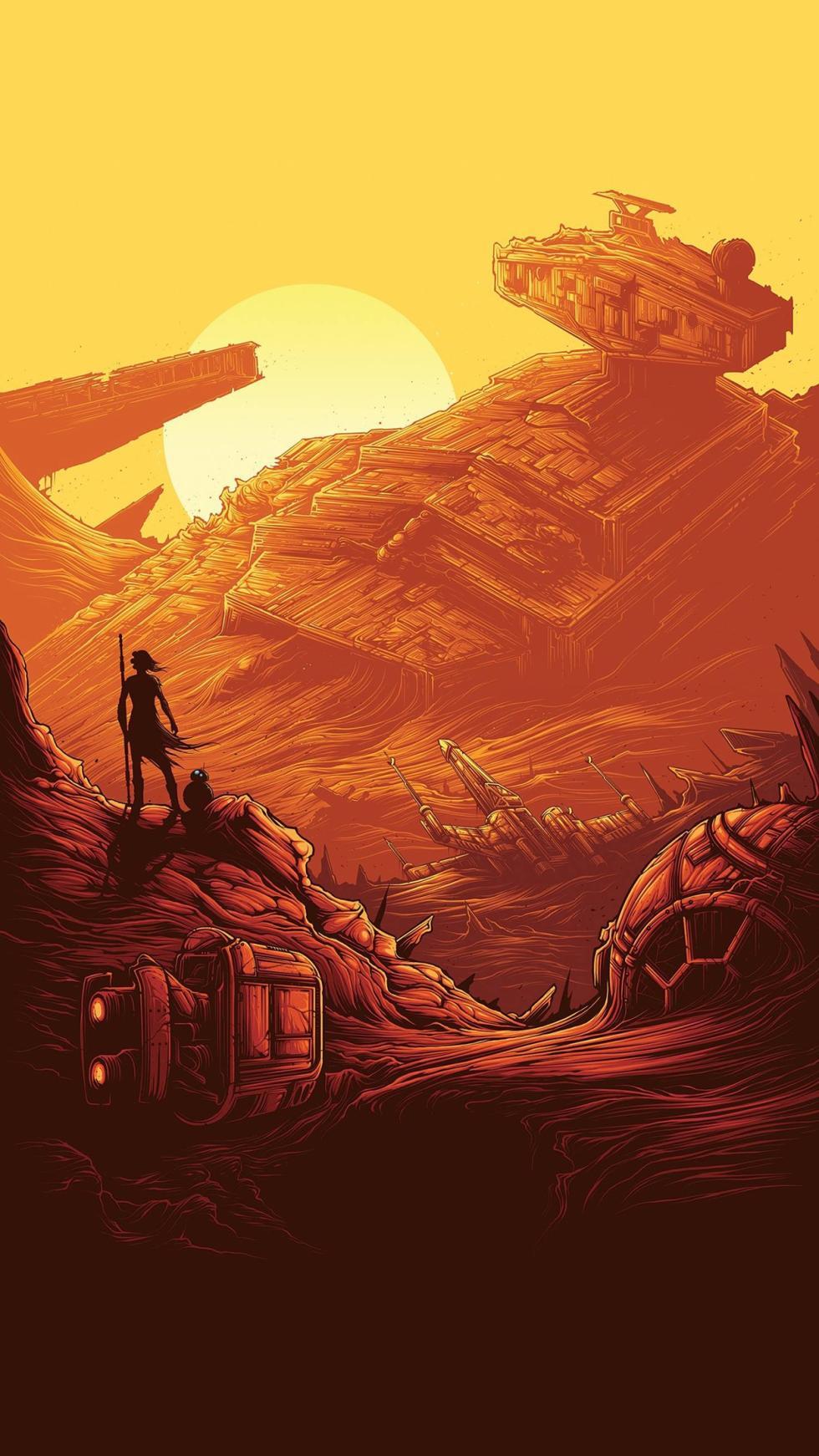 Los mejores fondos de pantalla de Star Wars: El Despertar de la Fuerza para el iPhone (La Guerra de las Galaxias)