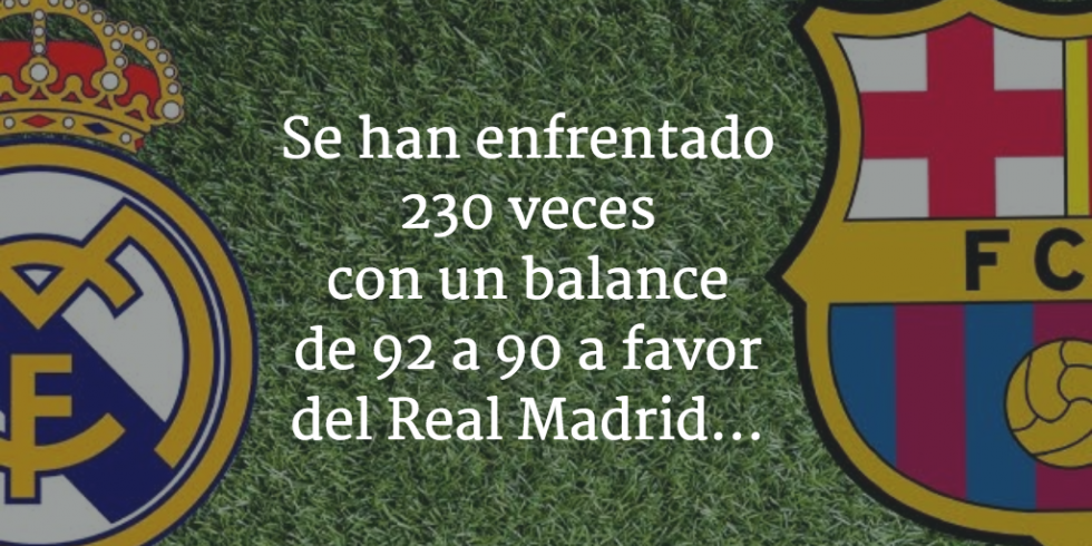 Real Madrid vs FC Barcelona estadísticas