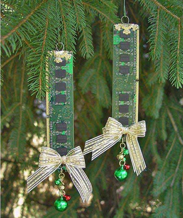 Memoria RAM decorada para Navidad