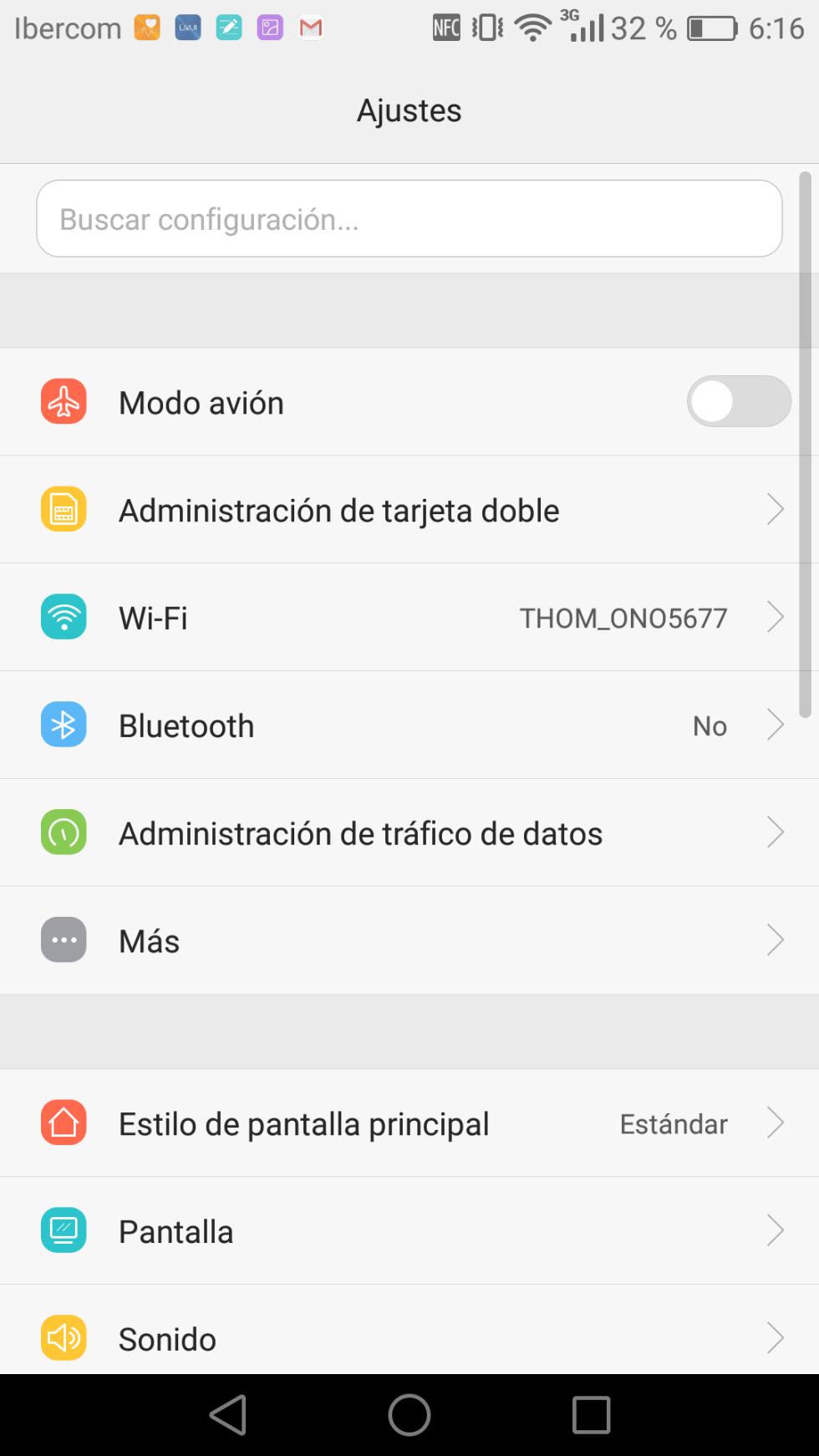 Interfaz del Huawei Mate 8