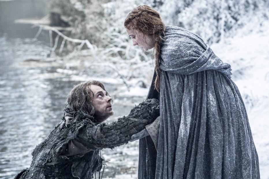 Theon y Sansa, sexta temporada de Juego de Tronos