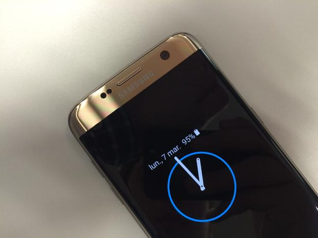Función de Always On Display del Galaxy S7 Edge de Samsung