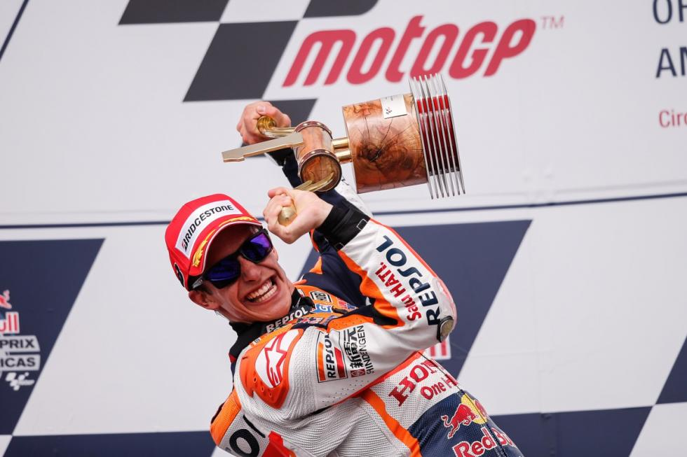 Márquez ha ganado todas las carreras que ha disputado en Estados Unidos