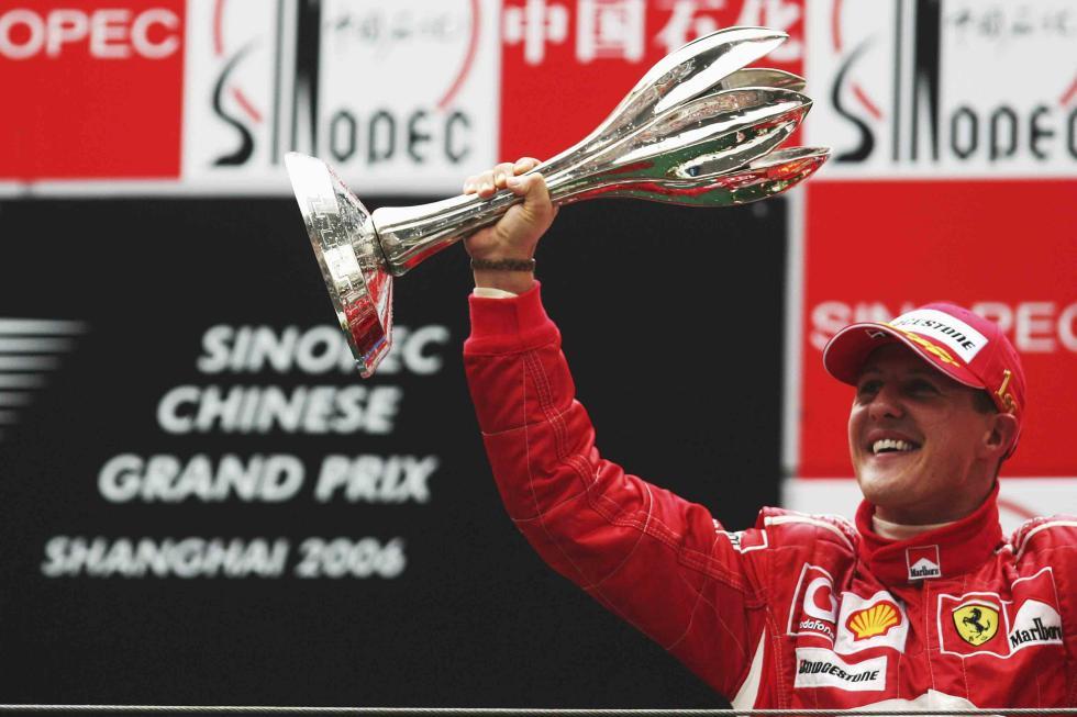 Michael Schumacher logró en 2006 su última victoria en F1 durante su última temporada en Ferrari