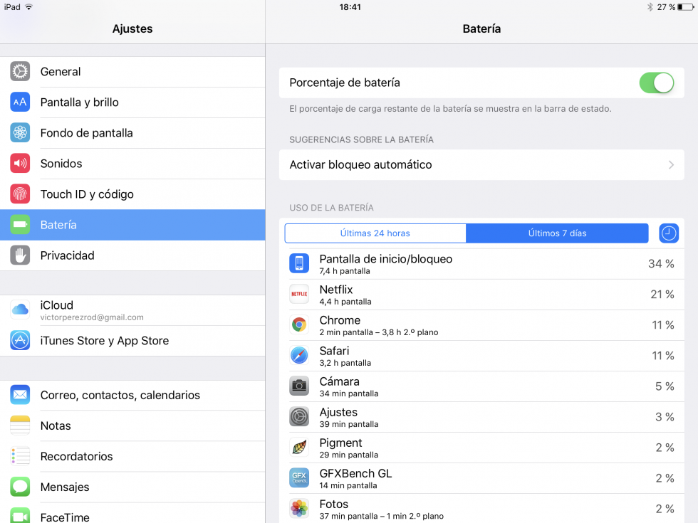Apple iPad Pro 9.7 pulgadas: software