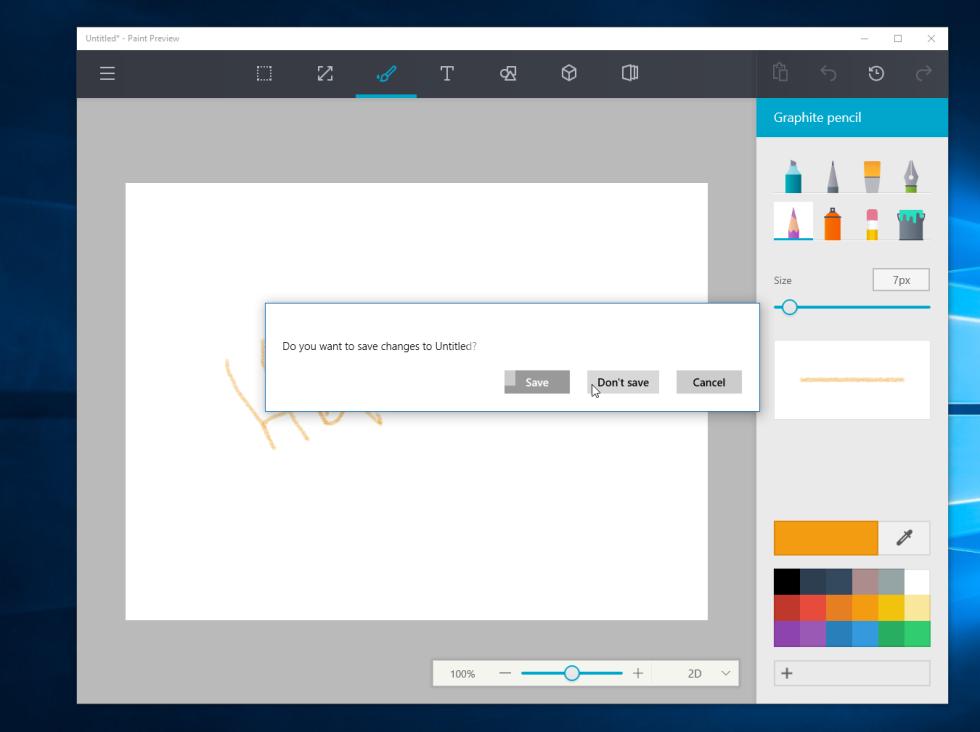 Así podría ser el nuevo Paint de Windows 10
