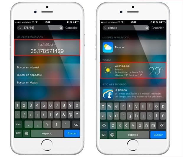 Trucos de Spotlight para iPhone y iPad