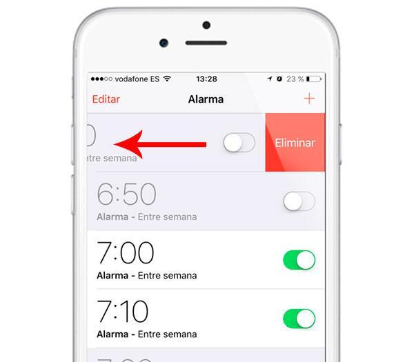 Cómo borrar las alarmas del iPhone o iPad rápidamente